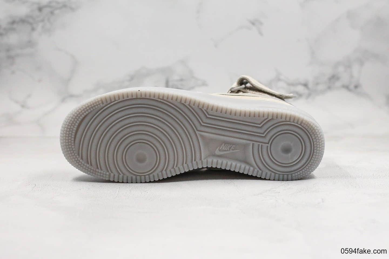 耐克Nike Air Force1 MID 1'07纯原版本3m反光中帮空军一号浅灰色果冻透明底海外限定内置全掌Sole气垫原盒原标 货号:315123-002