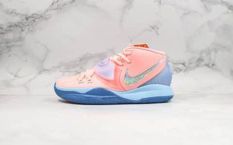 耐克Concepts x Nike Kyrie 6纯原版本欧文6波士顿潮流名所联名款粉蓝色内置气垫支持实战原盒原标 货号:CU8879-600