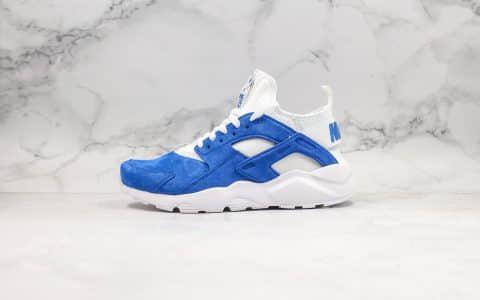 耐克Nike Air Huarache Ultra Suede纯原华莱士慢跑鞋麂皮蓝白色内置气垫全麂皮鞋面材质原盒原标 货号:829669-884