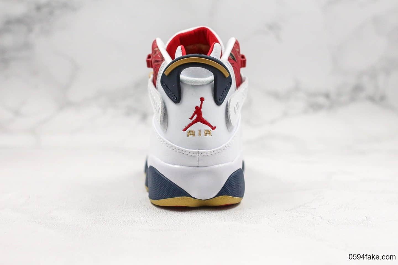 乔丹Air Jordan 6 rings super red 93纯原版本六冠王公牛中国红稀有复古配色原档案数据开发原盒原标 货号:322992-163