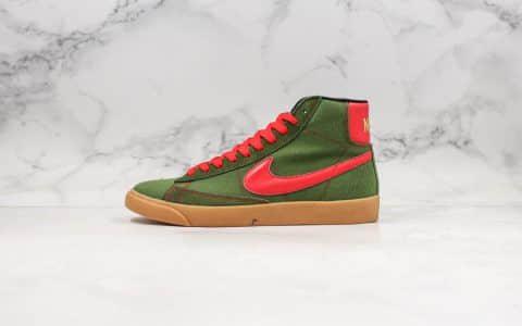 耐克Nike Blazer Mid QS HH公司级版本高帮开拓者复古红绿配色内置Zoom气垫原盒配件 货号:JL6806-400