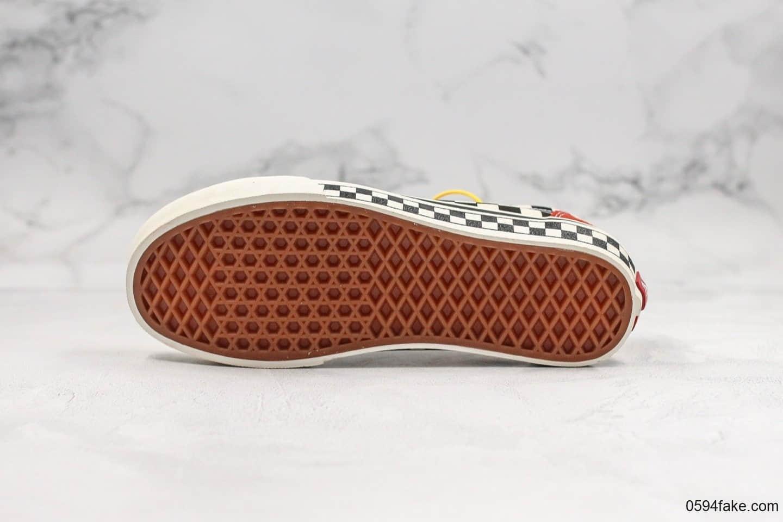 万斯Vans Style 36 SF公司级版本低帮格子棋盘脏橘色黑白棋盘原厂硫化大底原盒原标内置钢印