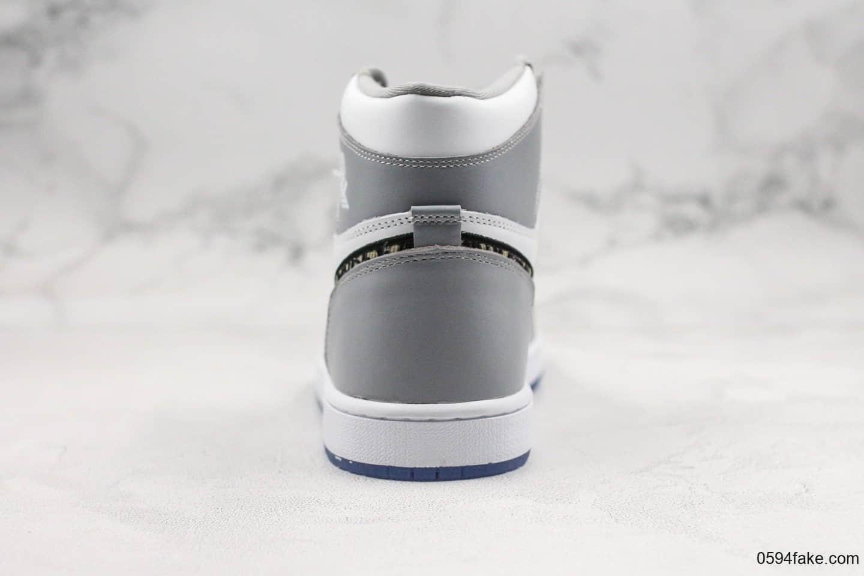 乔丹Air Jordan 1 High x Dior纯原版本迪奥联名款35周年限量高帮AJ1原盒配件原档案数据开发 货号:CK6636-101