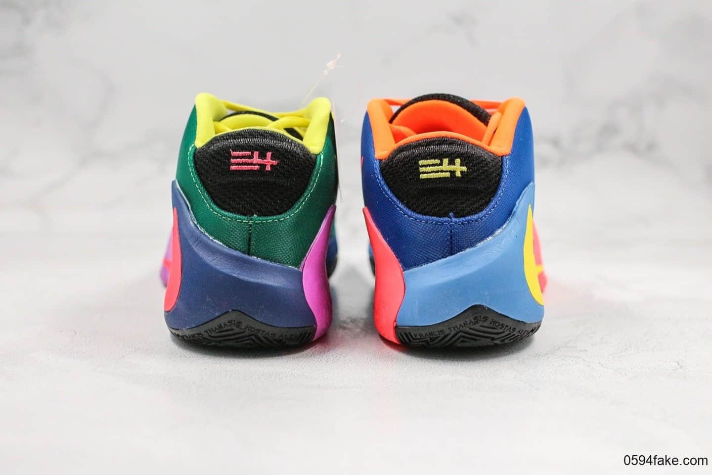 耐克Nike Zoom Freak 1 White PurpleVlot纯原版本字母哥一代双气垫七彩篮球鞋原盒原标支持实战 货号:CU1486-800