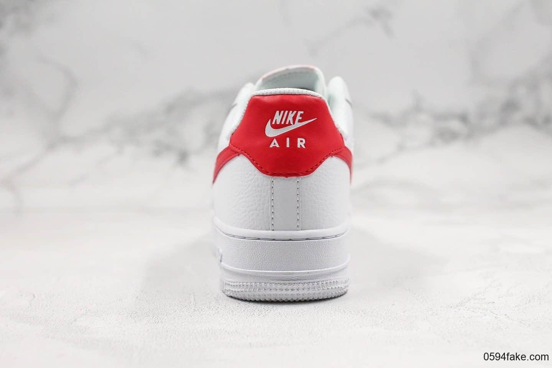 耐克Nike Wmns Air Force 1 07 White Noble Red纯原版本低帮空军一号2020年中国红配色内置全掌Sole气垫原盒原标 货号:315115-154