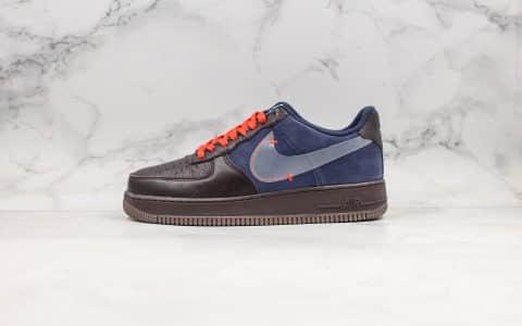 耐克Nike Air Force 1 PRM纯原版本低帮空军一号黑蓝配色内置全掌气垫原楦头原纸板打造原盒原标 货号:CQ6367-600