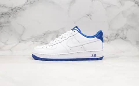 耐克Nike air force 1 07 low white deep royal white纯原版本低帮空军一号空军海军蓝原盒原标内置全掌气垫 货号:CD0884-102