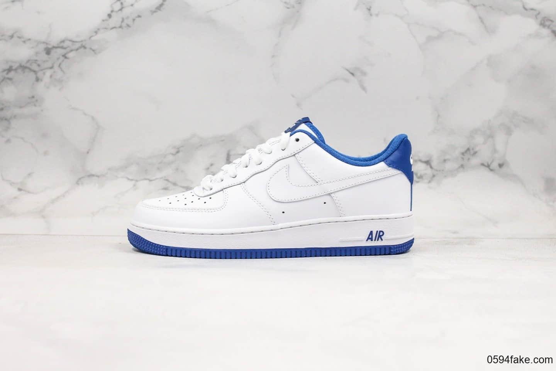 耐克Nike air force 1 07 low white deep royal whit