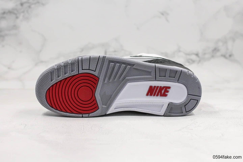 乔丹AIR JORDAN 3 Tinker NRG纯原版本手稿配色AJ3黑勾白水泥内置气垫完美鞋型正确卡色 货号:AQ3835-160