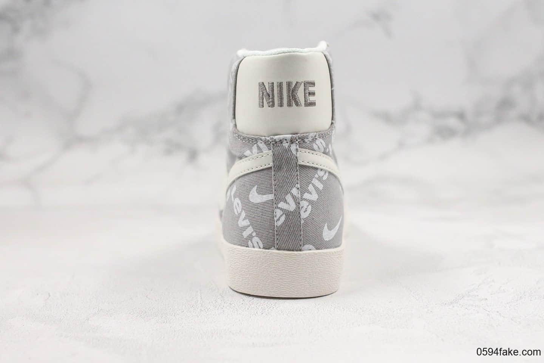耐克Levi's x Nike SB Zoom Blazer Mid QS公司级版本李维斯联名款中帮开拓者灰白配色内置Zoom气垫原楦头纸板打造 货号:QB6806-003