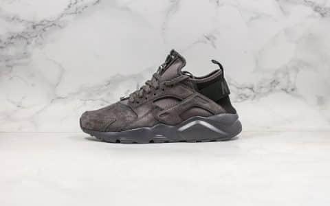 耐克Nike Air Huarache Ultra Suede纯原版本华莱士慢跑鞋麂皮棕色内置气垫原盒原标双层海玻璃鞋垫 货号:829669-556