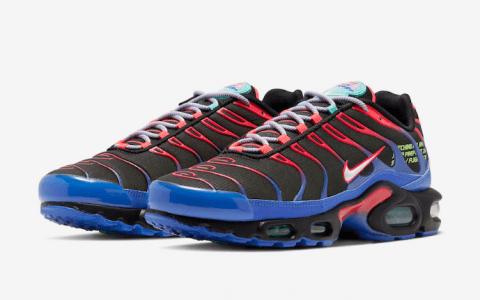 Nike复古跑鞋Air Max Plus新配色曝光!红蓝渐变吸睛度up! 货号:CV7541-001