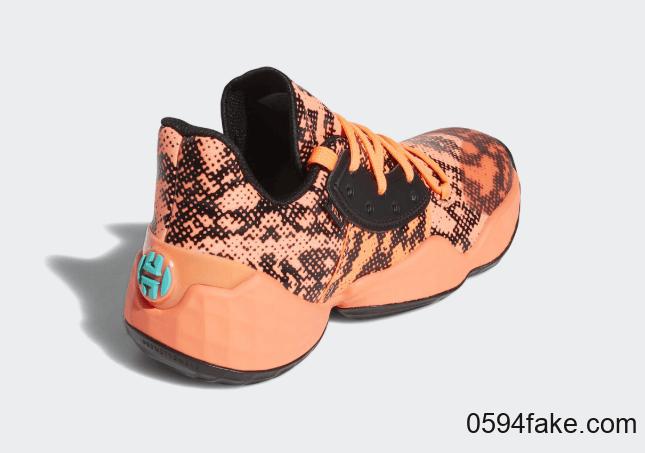 哈登最新战靴再曝新配色!这双adidas Harden Vol. 4还有独特蜥蜴纹理装扮! 货号:EF9944