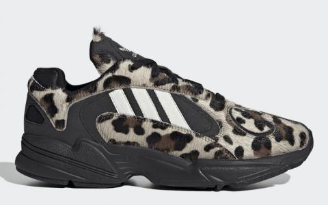 adidas经典复古跑鞋Yung-1新配色即将登场!狂野豹纹你心动了吗? 货号:EG8726