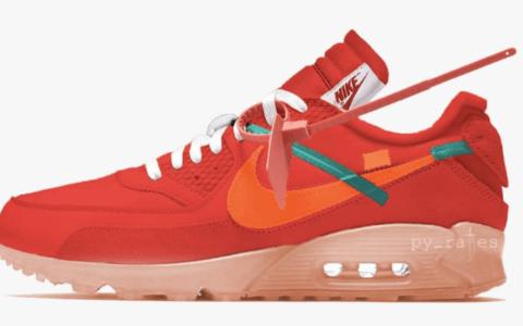 全新OW x Nike Air Max 90首度曝光!复古十足! 货号:AA7293-600