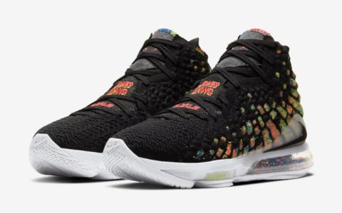 """詹皇战靴新配色释出官图!Nike LeBron 17"""" James Gang""""下月发售! 货号:BQ3177-005"""