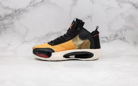 """乔丹Air Jordan 34""""Amber Rise""""纯原版本AJ34咖啡棕配色官方原盒原装Zoom气垫 货号:BQ3381-800"""
