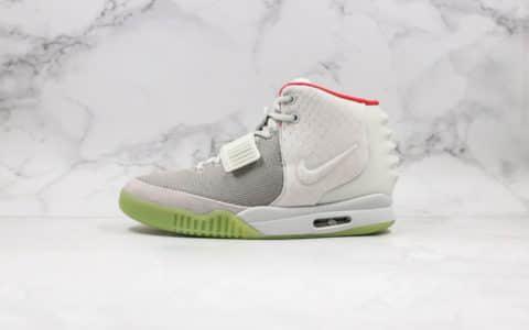 耐克Kanye West xNike Air Yeezy II NRG纯原版本侃爷联名椰子二代中帮纪念球鞋白绿配色原档案数据开发 货号:508214-010