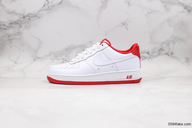 耐克Nike Air Force 1'07-White University Red纯原版本低帮空军一号大学红内置