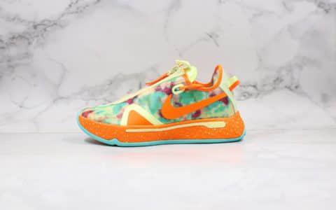 耐克Nike PG 4 EP纯原版本保罗乔治四代篮球鞋迷彩橙色内置气垫原盒原标支持实战 货号:CD5086-700