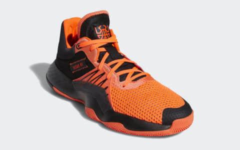 米切尔战靴adidas DON Issue 1新配色曝光!黑橙高颜值! 货号:EH2133