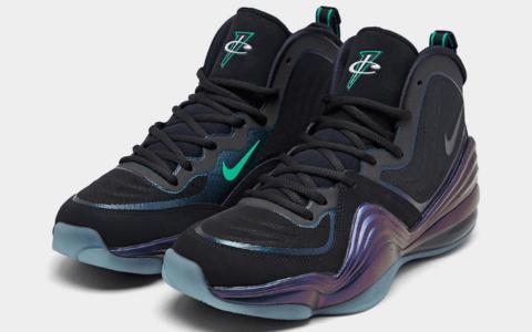 """""""隐形斗篷""""配色回归!这双Nike Air Penny 5看起来有点神秘! 货号:537331-002"""