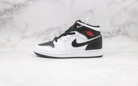 乔丹Air Jordan 1 Mid Reverse Black Toe纯原版本中帮AJ1逆向黑脚趾原盒原标正确后跟定型 货号:BQ6472-101