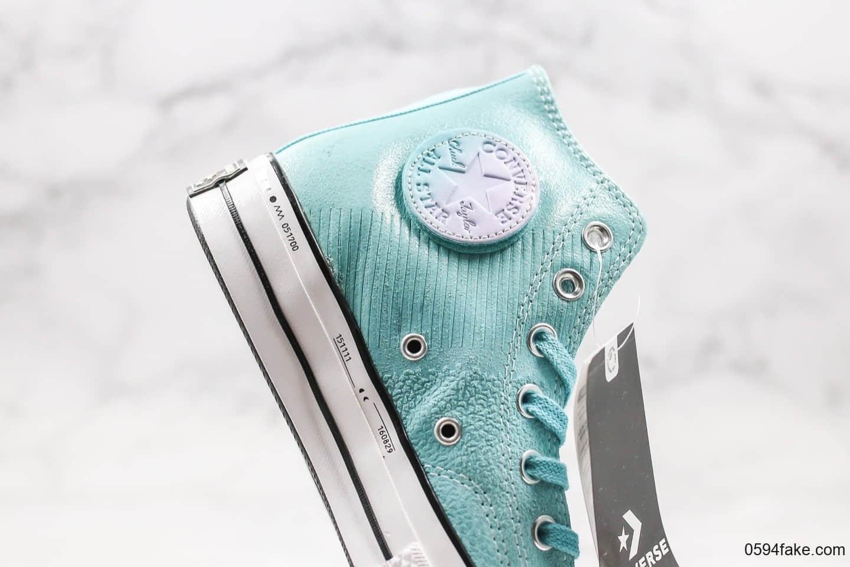 匡威Converse One Star公司级版本高帮硫化帆布鞋杰尼龟蓝配色正确硅蓝PU软中底双围条硫化大底