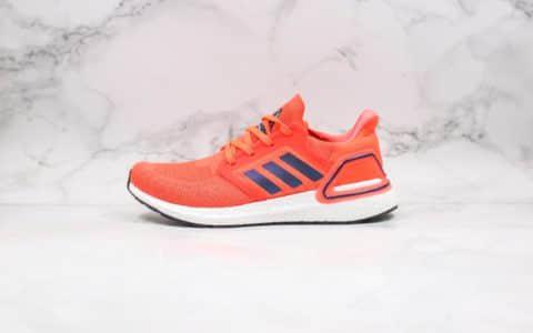 阿迪达斯Adidas Ultra Boost 20纯原版本爆米花跑鞋UB6.0荧光橙色原厂黑盒正确TPU支架 货号:FV8449