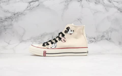 匡威Converse x Kith x Disney公司级版本三方联名款高帮帆布鞋米老鼠配色原厂硫化大底正确硅蓝中底