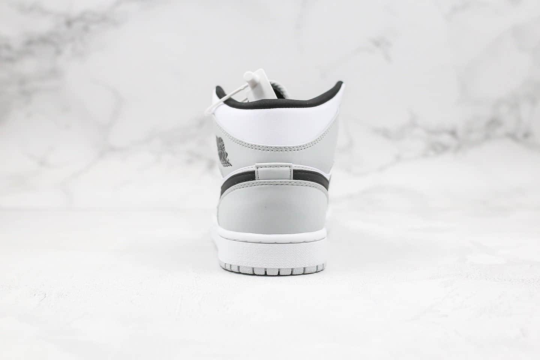 乔丹Air Jordan 1 Mid Light Smoke Grey纯原版本中帮AJ1小小迪奥灰色原档案数据开发正确后跟定型 货号:554724-092