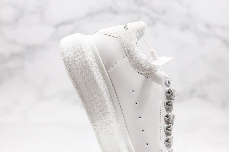 亚历山大Alexander McQueen sole sneakers纯原版本麦昆小白鞋闪光白配色原装头层丝绸牛皮原盒配件齐全