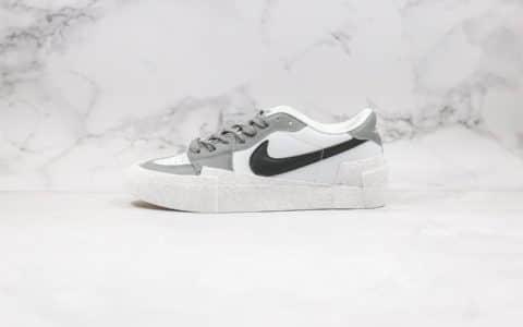 耐克Nike Blazer High Black University Blue x Sacai公司级版本低帮开拓者DUNK解构原盒原标正确无色差