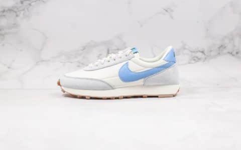 耐克Nike Daybreak公司级版本华夫复古慢跑鞋白灰蓝色原厂黑色抽屉盒原楦头纸板打造 货号:CK2351-400