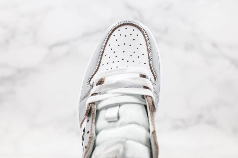 乔丹Air Jordan 1 High OG Grey x Dior联名款纯原版本低帮AJ1灰黑色原盒原标原档案数据开发 货号:CN8608-002