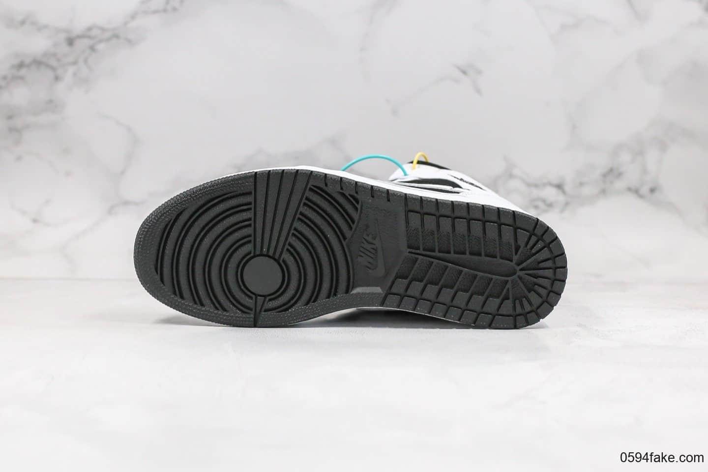 乔丹Air Jordan 1 Mid纯原版本中帮AJ1熊猫黑白配色原档案数据开发正确原厂皮料 货号:554724-113