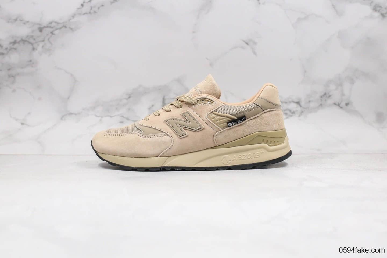 新百伦New Balance 998棕色卡其色休闲慢跑鞋原档案数据开发 货号:M998BLC