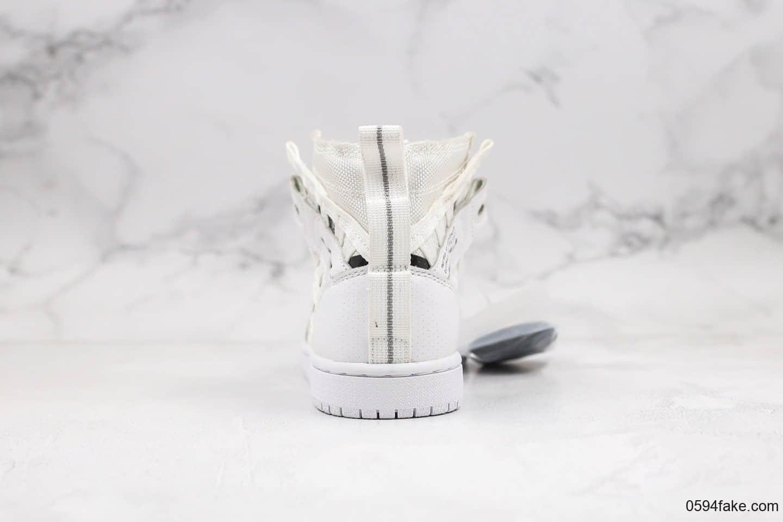 乔丹Air Jordan 1 RETRO HIGH OG纯原版本高帮AJ1编织铠甲白色原档案数据开发原盒原标 货号:CD6757-100