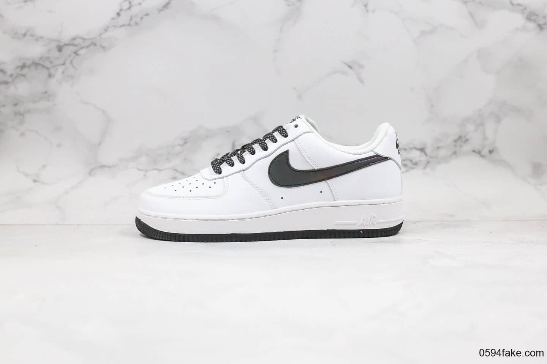 耐克Nike Air Force 1 Low White Static公司级版本低帮空军一号黑白色满天星变色龙内置