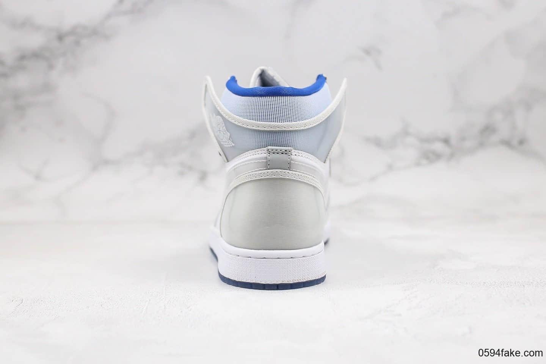 乔丹Air Jordan 1 Zoom R2T Racer Blue纯原版本高帮AJ1小迪奥灰白渐变色原档案数据开发原盒原标正确小蛮腰后跟 货号:CK6637-104
