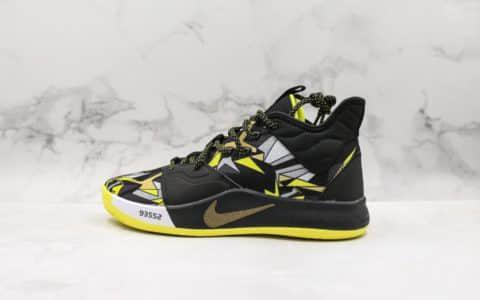 耐克Nike PG3 NASA EP纯原版本保罗乔治三代黑金配色内置气垫原档案数据开发支持实战 货号:AO2608-900