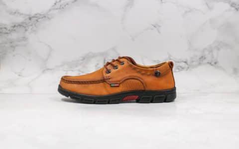 卡特CAT Footwear公司级版本工装皮鞋棕色进口头层牛皮原单品质