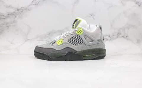 """乔丹Air Jordan 4 SE""""Neon""""OG纯原版本AJ4实战篮球鞋霓虹灰绿配色原楦原档案开发 货号:CT5342-007"""