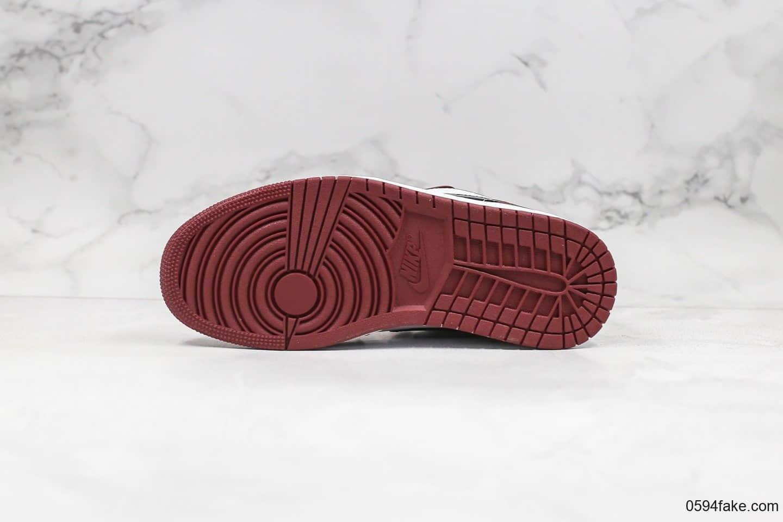 """乔丹Air Jordan 1 Low """"Noble Red""""纯原版本低帮AJ1玫瑰酒红配色原鞋开模 货号:553558-604"""