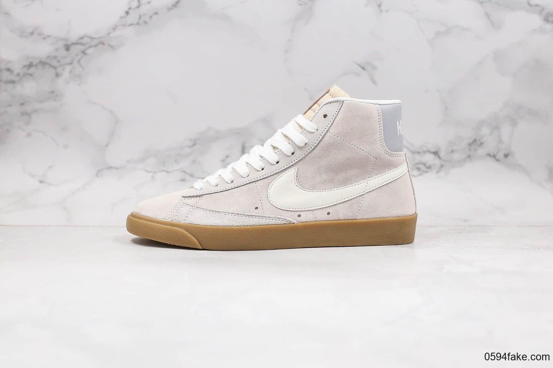 耐克Nike Blazer Mid Retro OG纯原版本中帮开拓者复古翻毛皮板鞋原档案数据开发原盒