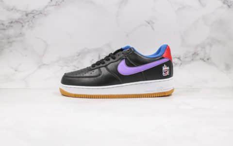 耐克Nike Air Force 1 07 LE Shibuya纯原版本涩谷限定葡萄紫色内置气垫原档案数据开发 货号:CQ7506-084