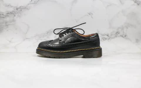 Dr.martens公司级版本Dr马丁靴低帮三孔布洛克系列黑色原材生产耐穿耐磨