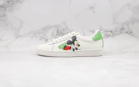 古驰Gucci公司级版本小白鞋系列米老鼠米色独家高端无胶工艺
