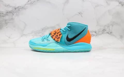 耐克Nike Kyrie 6公司级版本欧文6代篮球鞋蓝橙配色带鞋盒钢印 货号:BQ4631-300