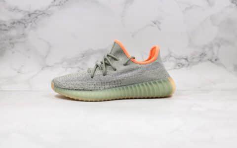 """阿迪达斯adidas Yeezy Boost 350 V2"""" Desert Sage""""公司级版本侃爷椰子350V2侧透满天星鼠尾草绿原鞋开模 货号:FX9035"""